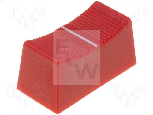 CS1-6-RED KNOB:SLIDER; COLOUR:RED; 23X11X11MM;