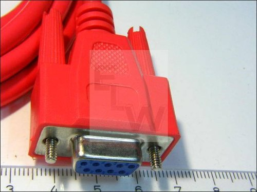 NMK09BB-3R NULL-MODEM-KABEL 2X9POLIG ROT