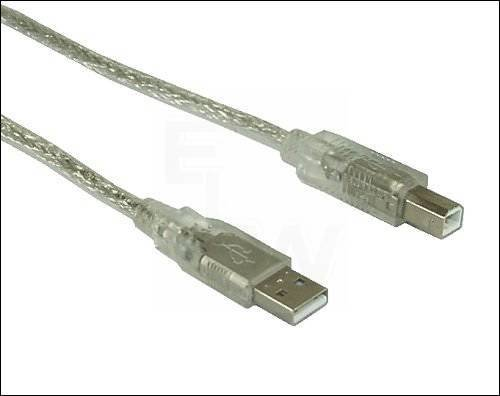 USB2.0-AB-5.0-IMT USB-KABEL AB TRANSPARENT= USB AB