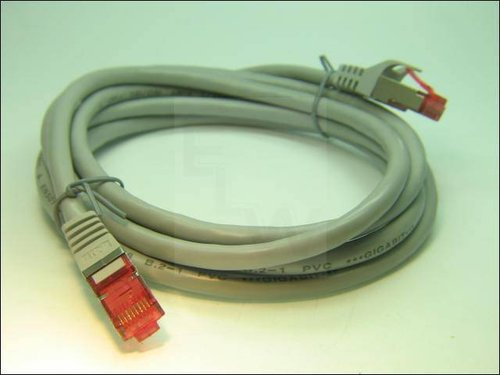 CAT6-PIMFKG2.0-S PATCHKABEL GRAU 2XGESCHIRMT