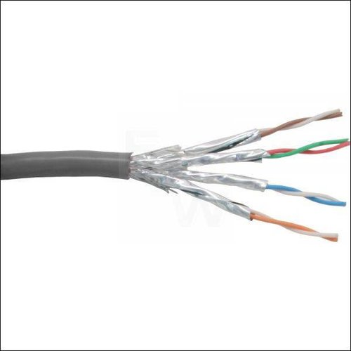 PATCHKABEL CAT.6 S-FTP (PIMF), GRAU, AWG27, PVC,