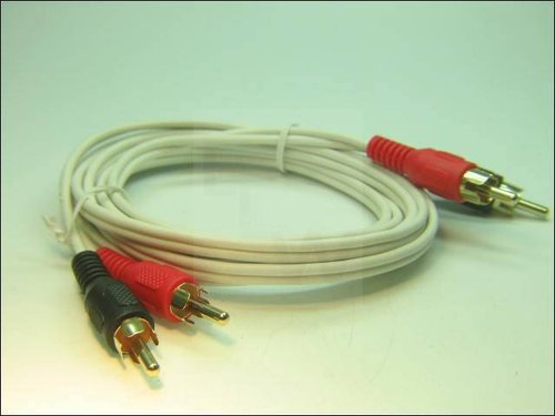 CINCH KABEL, 2X CINCH ST-ST WEIss-GOLD 2M