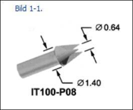 IT100-P08 TESTNADEL SERIE 100-25, KOPF 08, 6,5A
