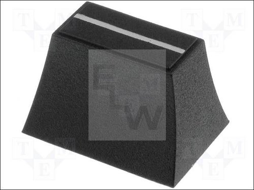 CS2-6-BLK KNOB:SLIDER; COLOUR:BLACK; 20X14X13MM