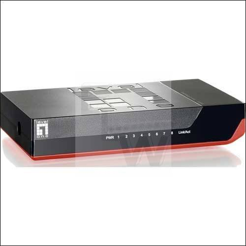 LEVELONE, FSW-0811, 8 PORT 10-100MBPS FAST ETHERNE