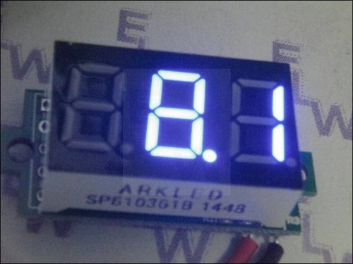 MINI-DIGITALVOLTMETER  BLAU 31 X 14 X 12 MM